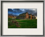 The Grassy Roof in the Central Icelandic Farms Framed Photographic Print by Trey Ratcliff