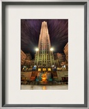 Ice Skating at Rockefeller Center Framed Photographic Print by Trey Ratcliff