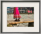 Walking Across the Old Bridge Framed Photographic Print by Trey Ratcliff
