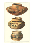 Hopi Polychrome Pots from Sikyatki Prints