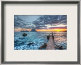 Distant Rocks Off Ibiza Framed Photographic Print by Trey Ratcliff