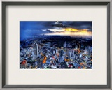 Sunset Storm over Kuala Lumpur Framed Photographic Print by Trey Ratcliff
