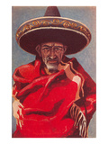 Old Mexican Man Poster