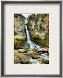 A cool waterfall to relax at during the hike Framed Photographic Print by Trey Ratcliff