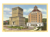 Courthouse and City Hall, Asheville, North Carolina Posters