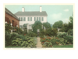 Garden, Aldrich Memorial, Portsmouth, New Hampshire Poster