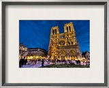 Merry Christmas from Notre Dame Framed Photographic Print by Trey Ratcliff
