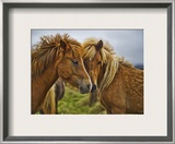 Wheat Horses Framed Photographic Print by Trey Ratcliff