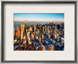 Chicago from a Chopper Framed Photographic Print by Trey Ratcliff