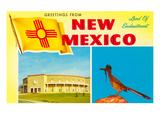Souvenirs du nouveau Mexique, géocoucou et Roundhouse Poster