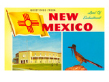 Greetings from New Mexico, Roadrunner and Roundhouse Poster