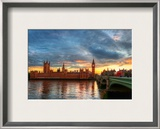 Approaching London Framed Photographic Print by Trey Ratcliff