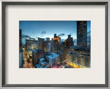 Houston at Dusk Framed Photographic Print by Trey Ratcliff