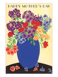 Bouquet in Blue Vase Prints