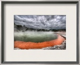 The Artist's Palette in Rotorua Framed Photographic Print by Trey Ratcliff