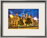 Leipzig at Night Framed Photographic Print by Trey Ratcliff