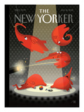 Political Circus - The New Yorker Cover, January 16, 2012 Premium Giclee Print by Bob Staake