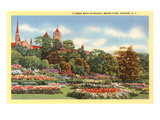 Flower Beds, Branch Brook Park, Newark, New Jersey Prints