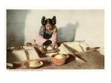 Hopi Maiden Grinding Corn Prints