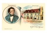 Franz Schubert and Birthplace, Art Print