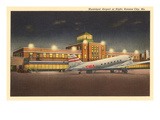 Night, Municipal Airport, Kansas City, Missouri Posters