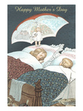 Happy Mother's Day, Tooth Fairy with Umbrella Posters