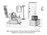"""After months of partisan bickering, Congress has finally agreed to put a …"" - New Yorker Cartoon Premium Giclee Print by Zachary Kanin"