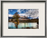 Stopping for Lunch at the Emerald Lake in the Andes Framed Photographic Print by Trey Ratcliff