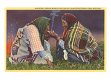 Blackfeet Indian Women, Glacier Park, Montana Posters