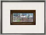 Horse in Window Framed Photographic Print by Trey Ratcliff