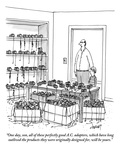 """One day, son, all of these perfectly good A.C. adapters, which have long …"" - New Yorker Cartoon Premium Giclee Print by Tom Cheney"