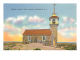 Gosport Church, Isle of Shoals, Portsmouth, New Hampshire Prints