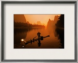 The Li River (or Morning Fisherman) Framed Photographic Print by Trey Ratcliff