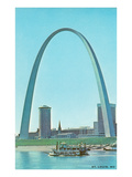 St. Louis Arch and Mississippi River Art