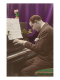 Man Playing Piano Posters