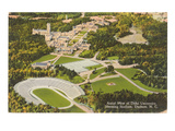 Aerial View of Duke University, Durham, North Carolina Poster