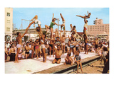 Venice Beach Acrobatics, Retro Prints