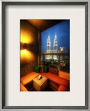An Open Air Lounge in Kuala Lumpur Framed Photographic Print by Trey Ratcliff
