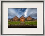 Three Houses with a Grass Roof Framed Photographic Print by Trey Ratcliff