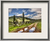 Approaching the Ranch Framed Photographic Print by Trey Ratcliff