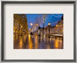 Christmas on the Champs Framed Photographic Print by Trey Ratcliff