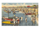 Boat Racing, Wrightsville Beach, North Carolina Poster