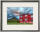 Green Mountain, Red House Framed Photographic Print by Trey Ratcliff