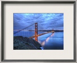 The Golden Gate Bridge at Dusk Framed Photographic Print by Trey Ratcliff
