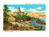 State Capitol, Jefferson City Historical View Prints
