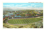 University Playing Field, Missoula, Montana Poster