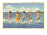Bathing Beauties, Wrightsville Beach, North Carolina Prints