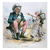 Cartoon: Uncle Sam, 1893 Posters