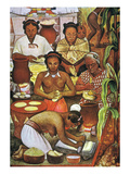 Rivera: Grinding Corn Giclee Print by Diego Rivera