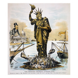Anti-Immigration Cartoon Prints by Victor Gillam